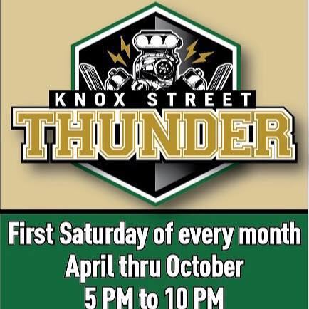 Knox Street Thunder is a new seasonal event for 2016. It's a chance for car enthusiasts, bikers, and motorheads to show off their rides. (April-October)