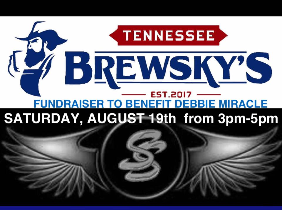 420 S. Broad St, New Tazewell, Tennessee 37825  SOUTHERN STEEL will be performing this Saturday, August 19th, from 3pm to 5pm at Tennessee Brewsky's located in New Tazewell, TN. This show will be a part of a fundraiser held for Debbie Miracle and her family. This is a local family which lost her home and belongings to fire. This event will include a ride, as well as other activities throughout the day.