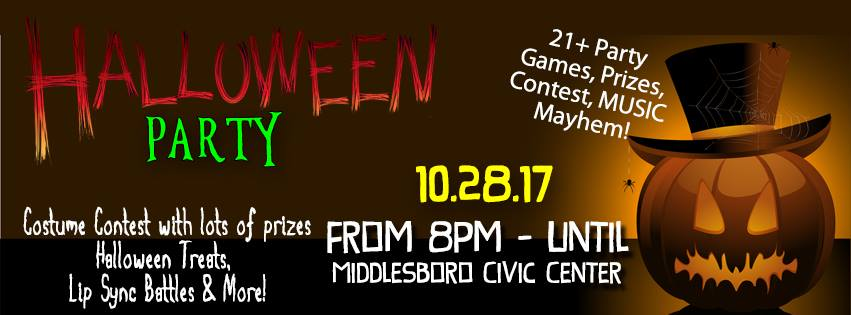 21+ Party to celebrate Halloween!! Contest, Prizes, Games, Food, Music. Come have a spooky good time. Now until October 25th - $15 per person or $25 per couple. After October 25th prices go to $20 per person $35 per couple