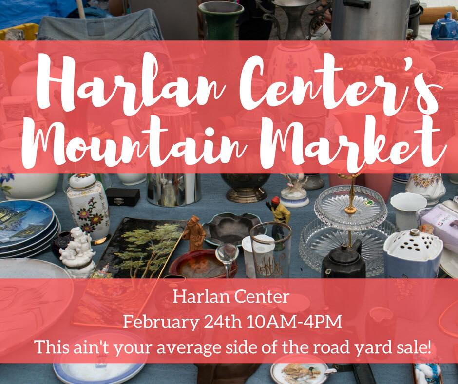 This February we are introducing a new event to the line-up of events that come out of the Harlan Center! If you're like us, after Christmas we try to get rid of the things we don't need anymore either by selling at a yard sale, a flea market, or online.  Well, we want to give you a place to sell all of the things you don't want anymore or if you're a crafter or vendor and you want to set up at the beginning of the year when resolutions are abound then this is the event for you!  If you want to sell at this fun flea market, yard sale, crafter jamboree, call us at 606.573.4495 and reserve your spot today. We will also have food trucks set up for the day so be on the look out for that! You must have your spot reserved by February 21st, 2018 to sell at this market! To set up at this new event, it is only $10.