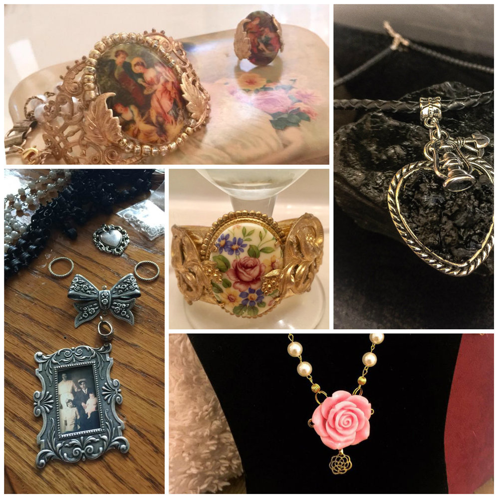 Deborah Hembree  Latest Creations Jewelry  cumberlandmist@hotmail.com  Handcrafted Jewelry Creations, Appalachian made by a Coalminers daughter in the Cumberland Gap region of Ky . Carved Coal pieces. Vintage Inspired Designs