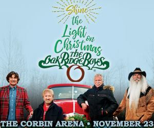 OAK RIDGE BOYS SHINE THE LIGHT ON CHRISTMAS TOUR 2018 NOV 23rd at THE CORBIN ARENA Tickets on sale Friday, June 8th @ 10am at The Corbin Arena Box Office or online at Ticketmaster.com