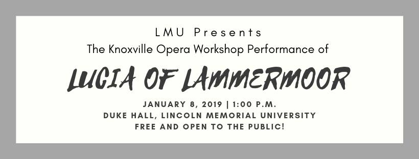 """This opera tale is a tragic drama written based upon Sir Walter Scott's historical novel """"The Bride of Lammermoor"""". The story concerns the emotionally fragile Lucy Ashton (Lucia) who is caught in a feud between her own family and that of the Ravenswoods. The setting is the Lammermuir Hills of Scotland (Lammermoor) in the 17th century.  This event is free and open to the public."""