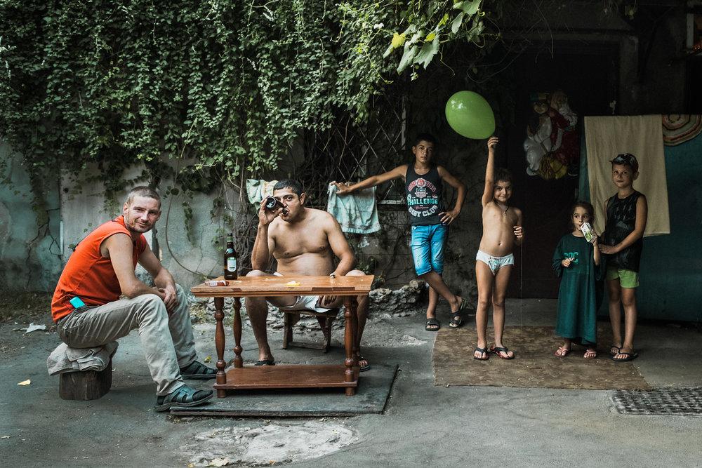 Family series. Odessa courtyard 2017, Ukraine