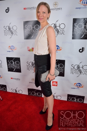 "On the red carpet for the opening of ""79 Parts"" at The Soho International Film Festival in NYC."