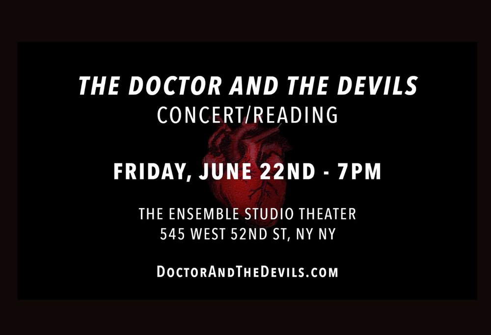 "I created, apadpted and produced ""The Doctor and the Devils"", by Dylan Thomas.  I'll also be performing in the concert/reading on June 22nd.  See my PROJECTS page for more information."