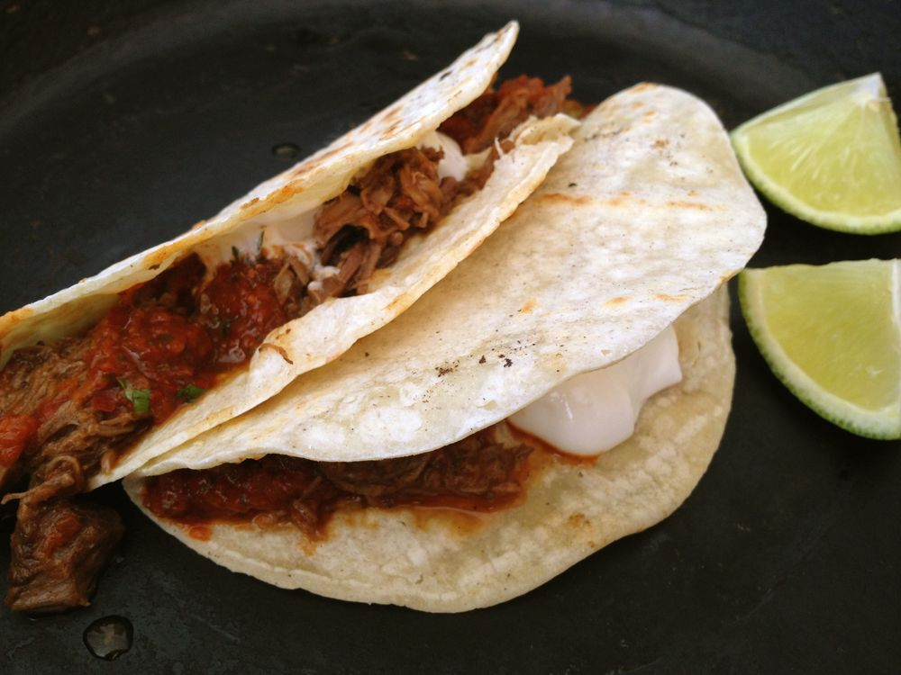 This was one of my first photos of my beef tacos. Shot with my phone.