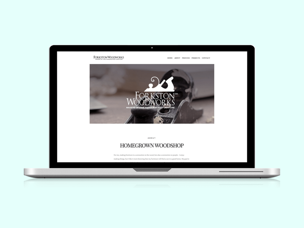 Forkston Woodworks - A website refresh for a woodworker and furniture maker