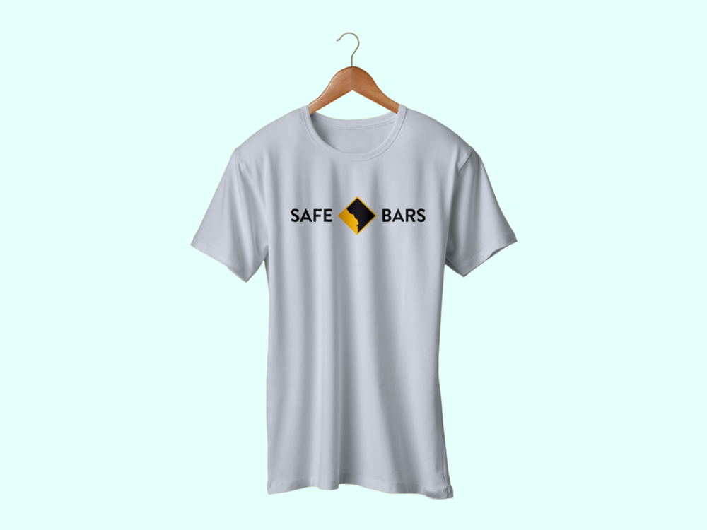 Safe Bars - A logo for an organization which trains bar staff how to correctly respond to harassment