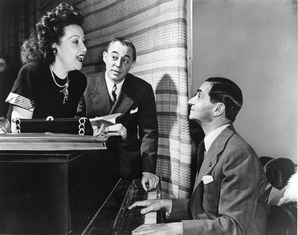 Irving Berlin with Ethel Merman and Richard Rodgers