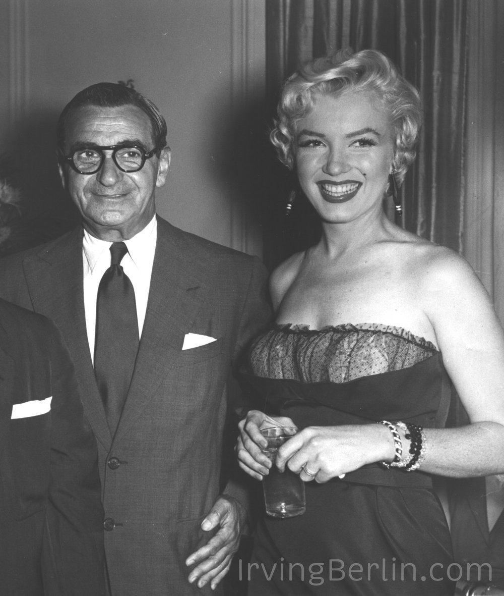 Irving Berlin with Marilyn Monroe