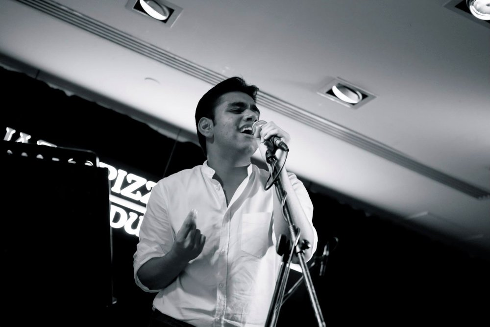 Performing at Jazz Pizza Express, one of Dubai's most renowned underground music venues