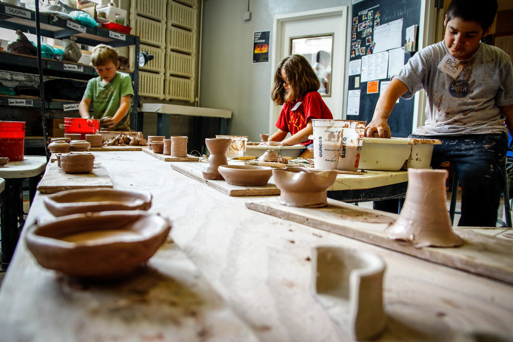A Clay Studio that gets all sizes of hands dirty.