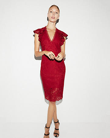 ruffle sleve lace sheath dress.jpg