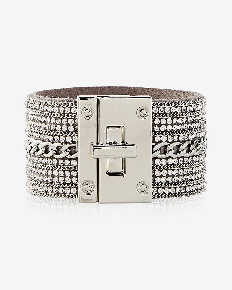 rhinestone chain turnlock cuff bracelet.jpg