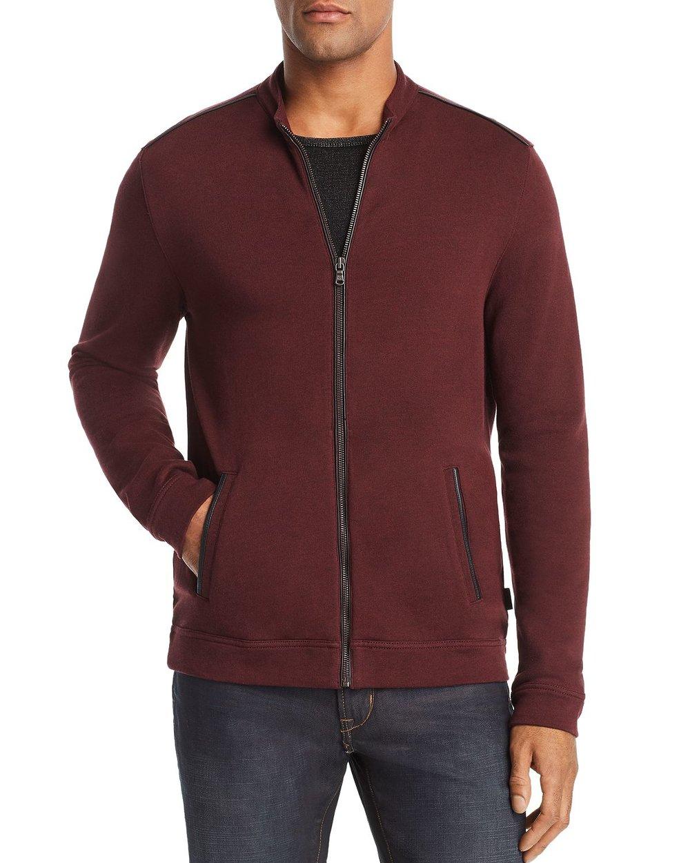 john varvatos faux leather trimmed jacket.jpg