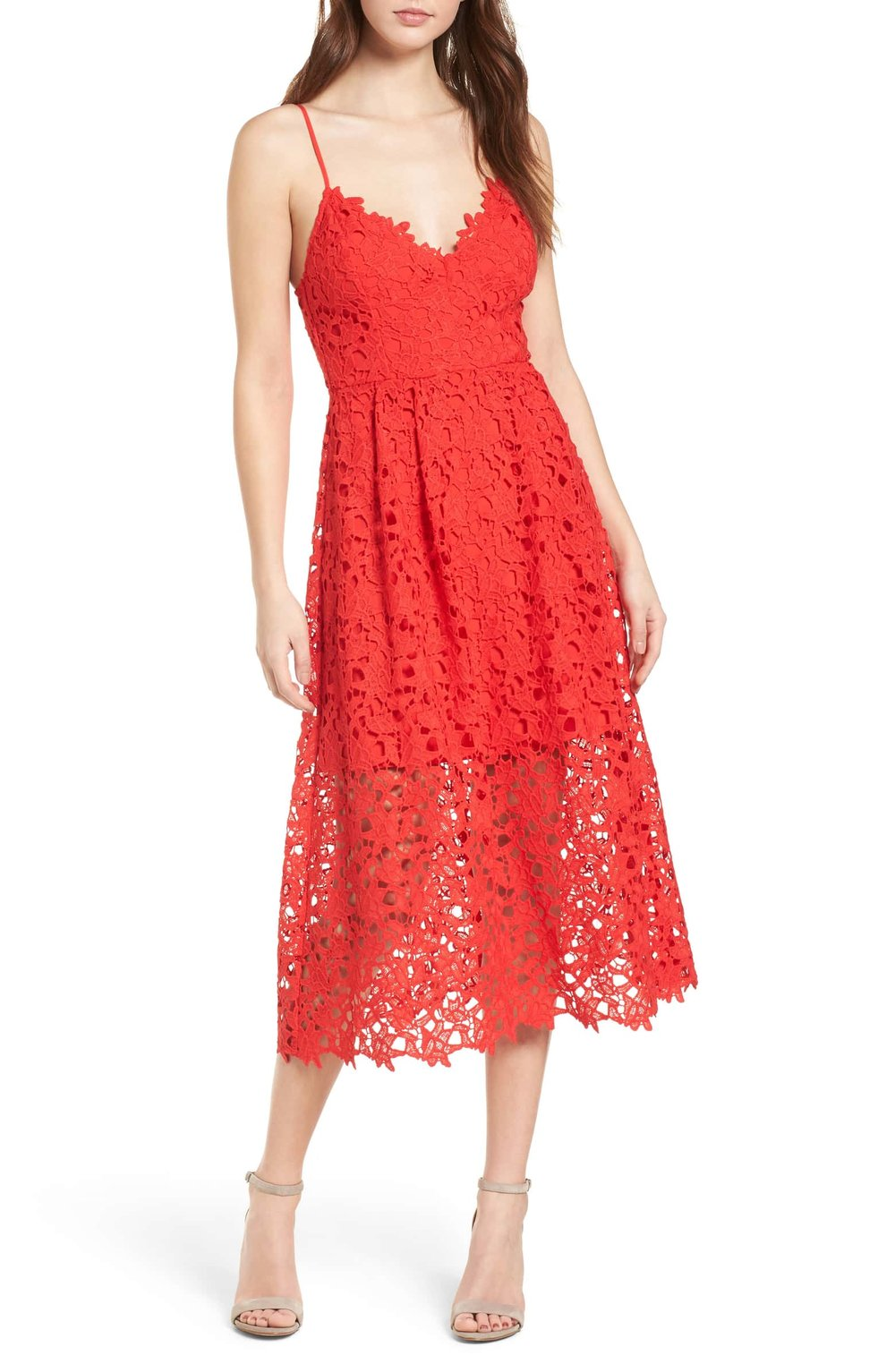 astr the label lace midi dress red.jpg