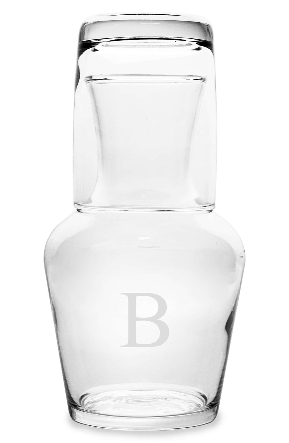 Cathy's Concepts Monogram Bedside Water Carafe Set - How cute is this? Such an elegant touch for the bedroom. You can get the letter of their last name or two of them with the letter of each person's first name.