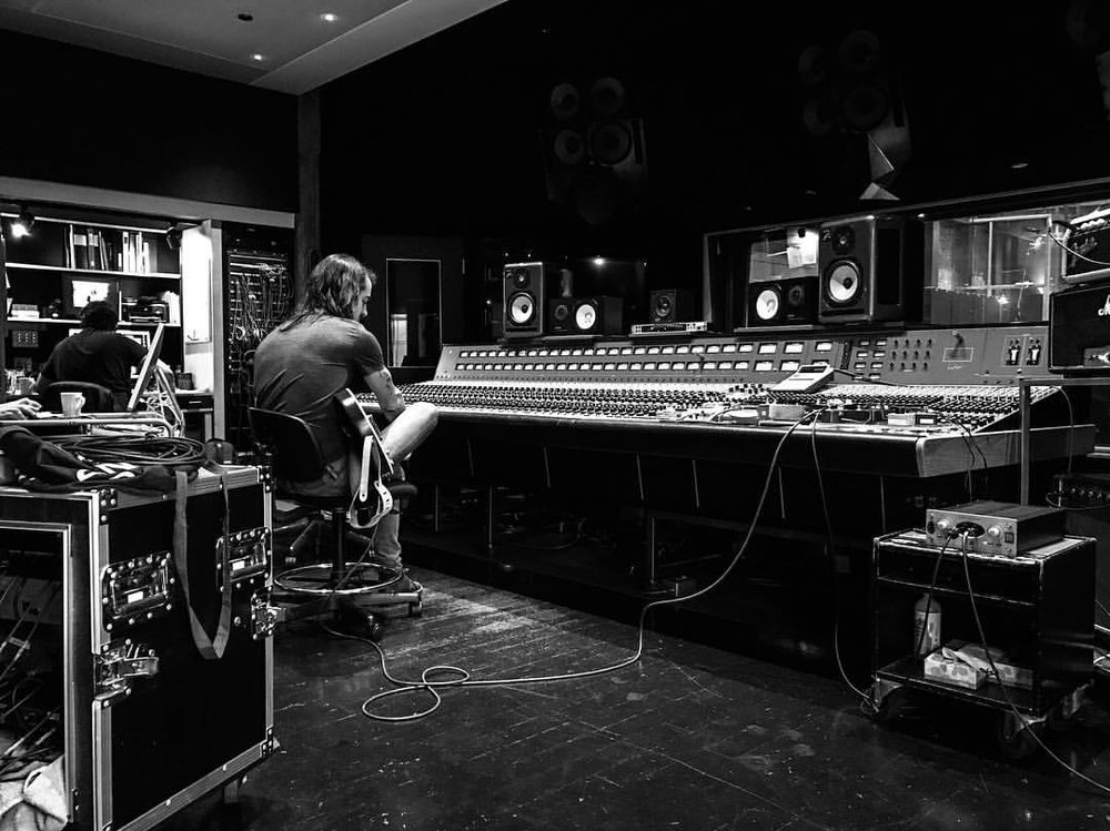 At Bryan Adams studio: The Warehouse, Vancouver, BC.