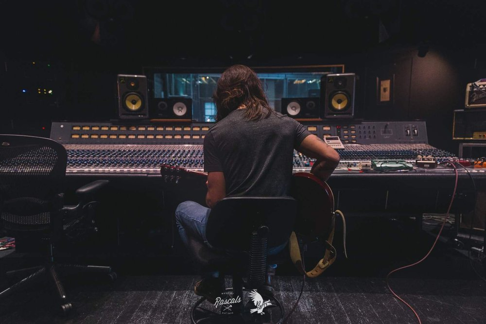 Recording Guitar at The Warehouse Recording Studio