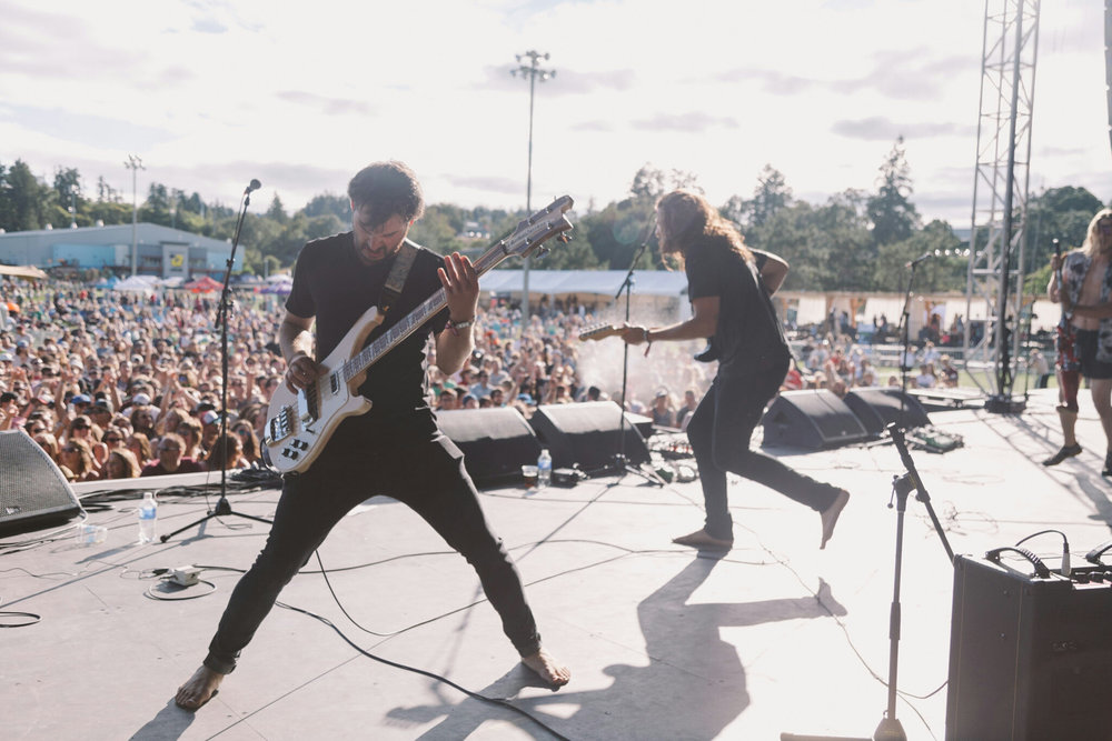 Performing with Band of Rascals at Rock The Shores Music Festival