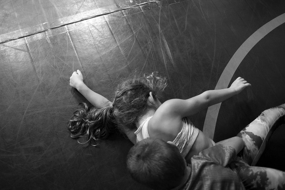 GIRL WRESTLE is a visual account of the growth of girls' youth wrestling in the American South. Through a series of black-and-white still and moving images, documentary photographer Rachel Jessen investigates themes of social conditioning, embodiment, identity, and power.