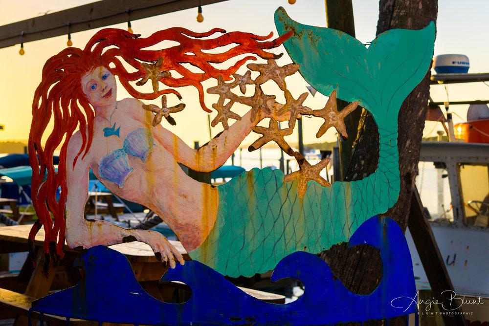 Mermaid, Star Fish Cafe, Cortez, Florida (2018) -  Angie Blunt