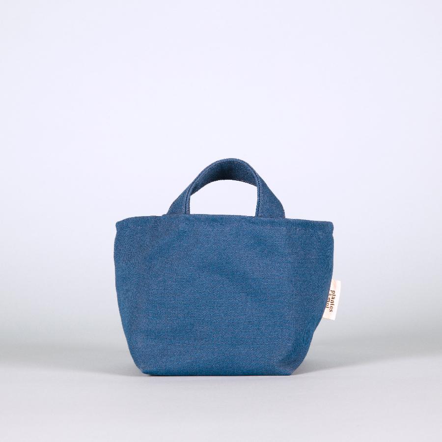 Edition Limitée - Collection Azur / Petit modèle   Dimensions = L24xH13xP14cm  Toile de coton biologique / doublure étanche / confectionné en France