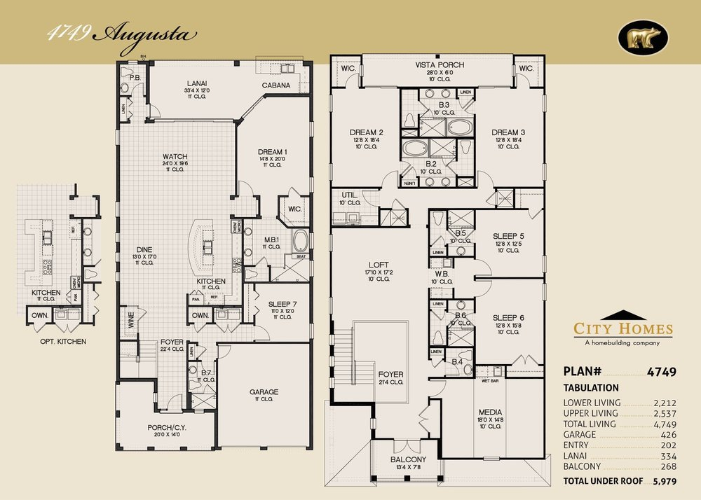 AUGUSTA - 7 BED / 7.5 BATH / 4749 SQFT - FROM  $997,990