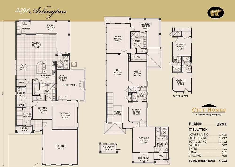 ARLINGTON - 4 BED / 4.5 BATH / 3512 SQFT - FROM $769,990
