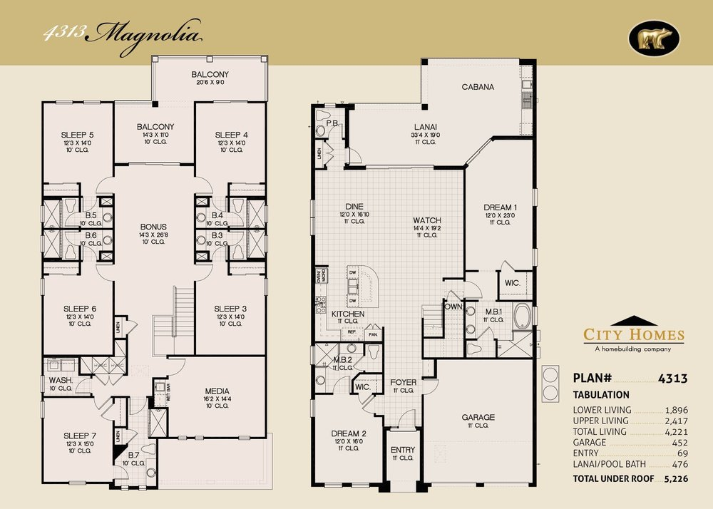 MAGNOLIA - 7 BED / 7.5 BATH / 4313 SQFT - FROM $927,990