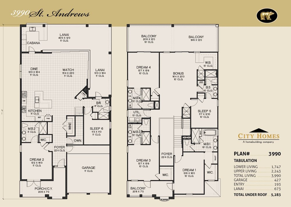ST. ANDREWS - 6 BED / 6 BATH / 3990 SQFT - FROM $857,990