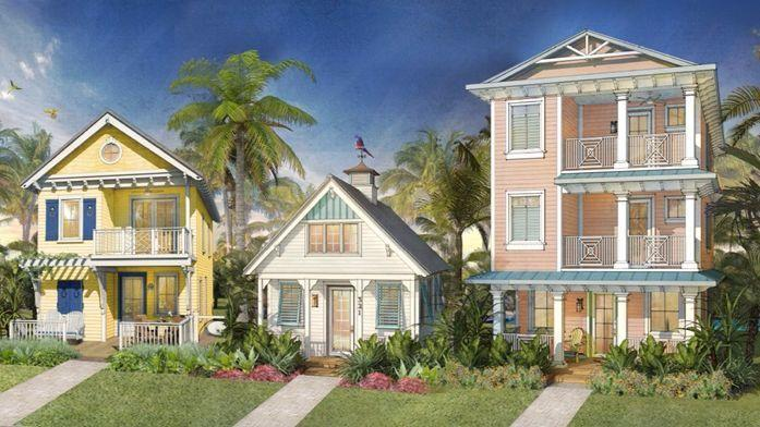 The look of the vacation cottages at Maragaritaville Resort Orlando was inspired by places in the Florida Keys, Bahamas, Jamaica and coastal Carolina. (Margaritaville)