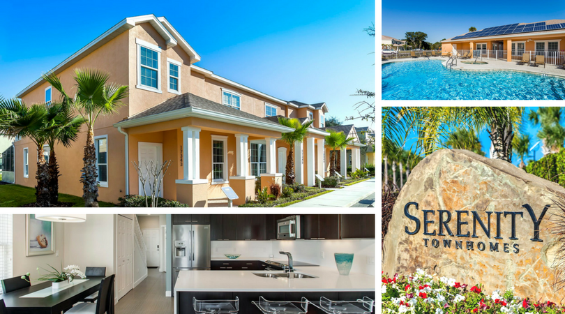 Serenity At Silver Creek - Serenity at Silver Creek is an ECO-Friendly resort style community located in the heart of the Vacation Capital of the World, just 2 and 1/4 miles from Walt Disney World resort.Each of the 136 Serenity Town Homes carries a tranquil waterside view and a return to nature on 40 acres of fabulous Florida land. All of these energy efficient ZEN-ECO HOMES offer best building practices, standard lots and state of the art energy efficient appliances.The Eco-clubs located close to all Town Homes offer residents and their guests luxurious amenities including fitness center, games rooms, lounge areas, covered outdoor seating, hot tubs, along with resort style pools, plus the tranquil views throughout the natural landscape.