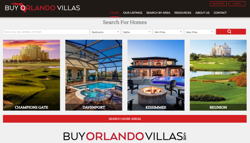 Search all real estate listing across the Orlando area in a 'LIVE' format  BuyOrlandoVillas.com