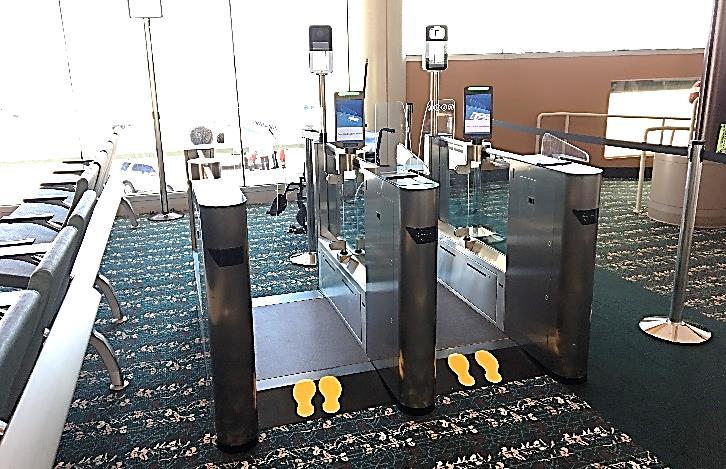 Biometric Exit gate at Orlando International Airport MCO