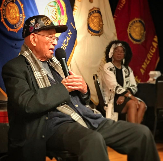 Lt. Col. Robert Friend, USAF (Ret.) speaks to Legion Family for Black History Month