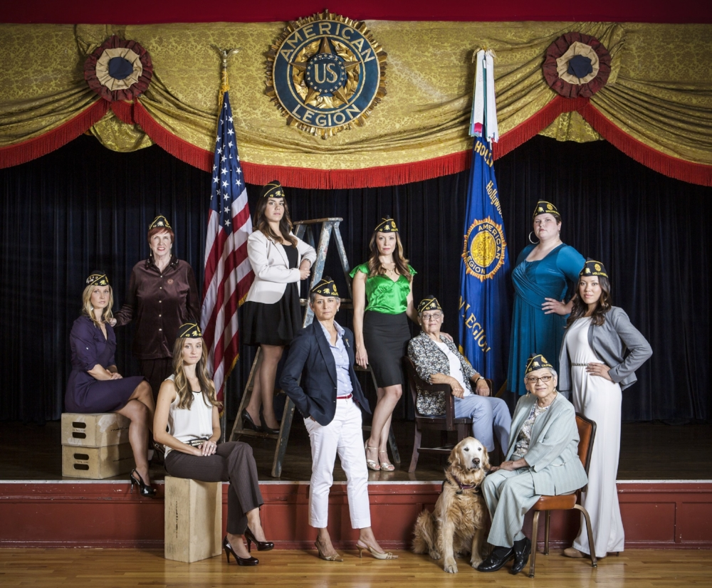 March is Military Women's History Month. Jon Endow took this stunning portrait of just some of Post 43's amazing female veterans in 2013. Salute!