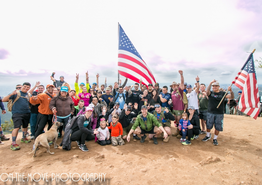Legionnaires joined forces with Team RWB LA and Merging Vets & Players for a Veterans' Hike to the Hollywood Sign Feb. 27. (Photo by Eric Andino)