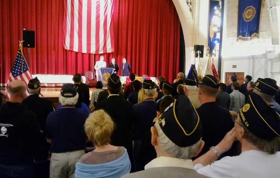 A historic induction night: Special Meeting of the post for the purpose of initiating 33 new members into the American Legion-our largest single induction of new members since the 1940s. To watch a video of the event, CLICK HERE.  (photo by Dan Flores)