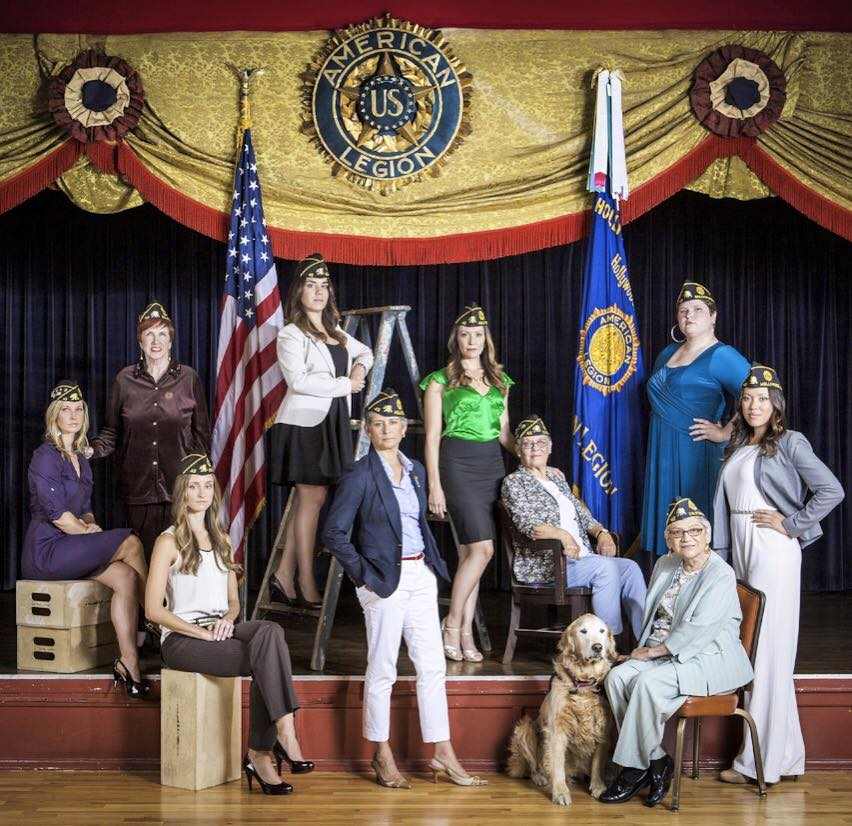 Some of Post 43's Women Veterans as photographed by Jon Endow in the Post 43 Cabaret Room.