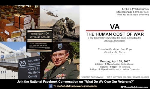 Documentary film screening tonight on VA issues. Details (Not endorsed by Post 43. Provided for member benefit and information only) Details