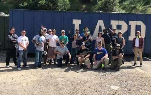 Another great Legion Family Range Day of marksmanship and camaraderie at Oak Tree Gun Club with members from Hollywood Post 43 and Palisades Post 283 putting some rounds downrange, April 22, 2017. Special thanks to André Andrews for coordinating and to all who came out!  (photo courtesy Palisades Post 283)