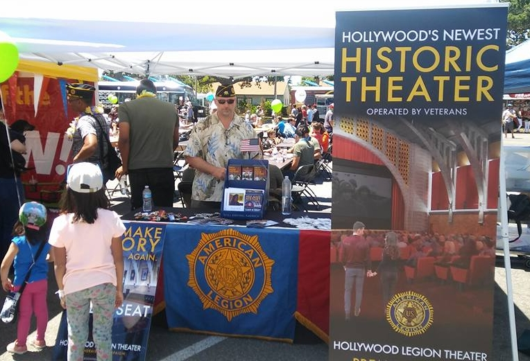 Post 43 Adjutant, Karl Risinger manning the promo booth at Burbank on Parade April 29, 2017. (photo by Dan Flores)