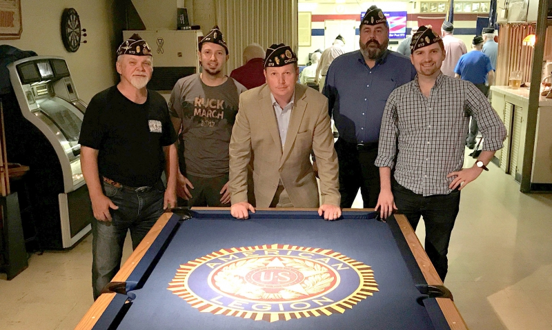 Former Post 43 Legionnaire Brent Webb (far right) moved to Chicago to go to college and transferred to a local post. Now, he is the commander there and leading a revitalized Legion community. Way to go, Brent!