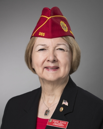 American Legion National Commander for   2017-18, Denise Rohan