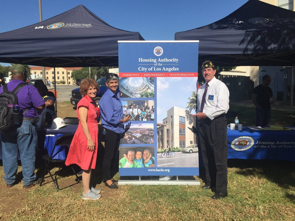Post 43 Members were on hand at the Annual West Los Angeles VA Veterans Stand Down Oct. 27, 2017.