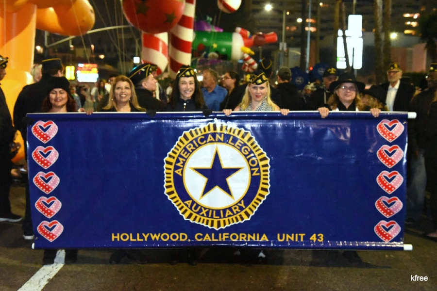 Our American Legion Auxiliary Unit 43 once again marched in the 2017 Hollywood Christmas Parade along with other Legion family members who also handled the Toy Soldier balloon! The parade was broadcast locally on KTLA. MORE PHOTOS