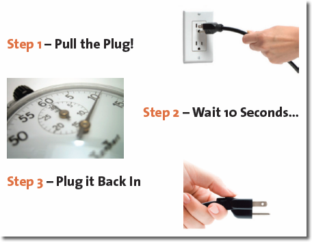 Instructions on how to fix wireless issues