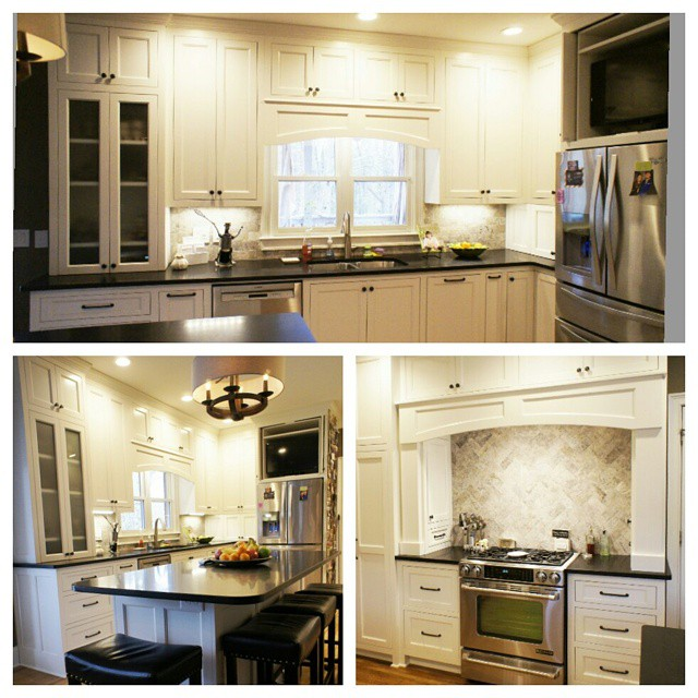 #afterthomasbuiltcustomcabinets  Maple painted inset cabinets. One of our favorite kitchens this year! More pictures of this fabulous kitchen coming soon on facebook!